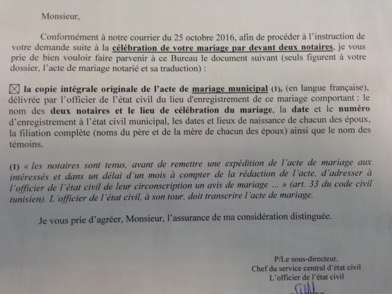 courrrier recu 0 0 - Demande De Transcription De Mariage A Nantes