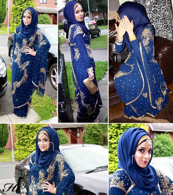 Très tenue femme voilée invitée mariage XM75