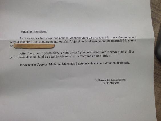 mariage et administration courrier de nantes - Transcription De Mariage A Nantes