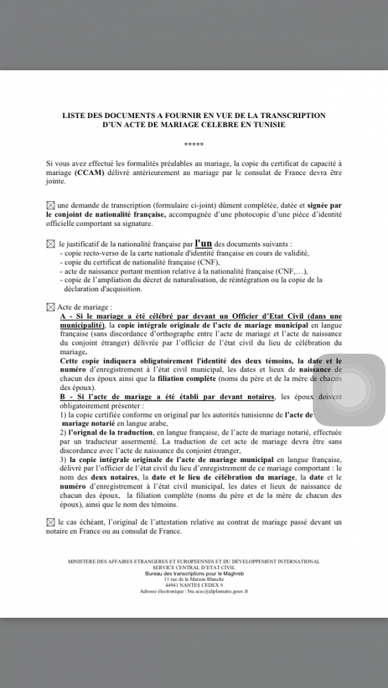 Transcription Mariage Maroc