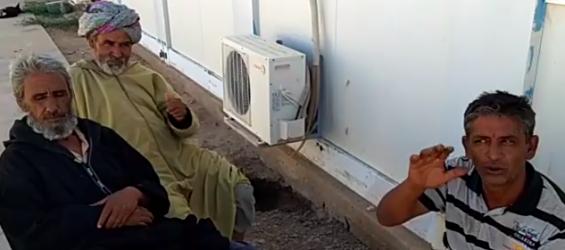 قضية الصحراء: صحراوين يعتصمون أمام مقر المينورسو ويطالبون برفع ظلم البوليساريو والجزائر عنهم