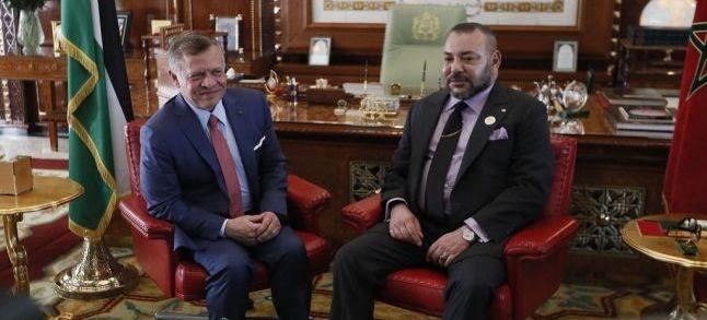 ملك الأردن في المغرب للحصول على دعم الملك محمد السادس من أجل الحفاظ على وصايته على القدس