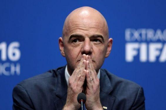 Gianni Infantino triste que le continent africain ne soit pas représenté lors des phases éliminatoires du Mondial 2018.  Ph. DR