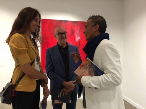 Rachid Hachimi avec ses invités espagnols / Ph. Mounira Lourhzal - Yabiladi.com