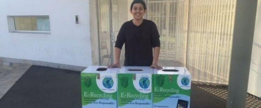 Camil Chaari est le fondateur de E-Recycling, une initiative environnementale unique pour recycler les déchets électroniques. / Ph.  Facebook/E-Recycling