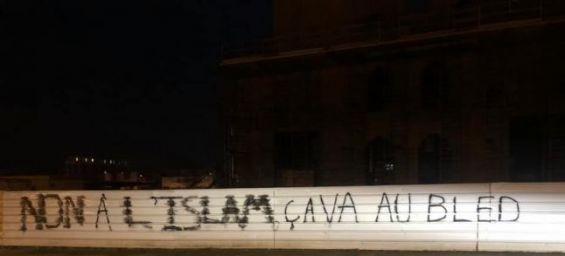 Strasbourg : Les musulmans indignés après un tag anti-islam sur une mosquée