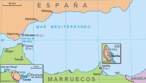 Plus de 20% des Espagnols pensent que Ceuta et Melilla seront marocaines... dans 20 ans