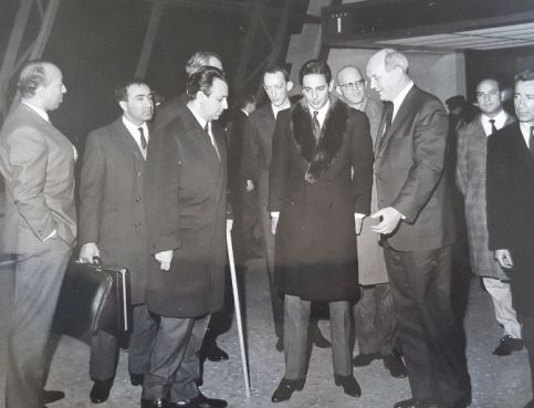 Abdelhak Benabdeljalil avec feu le roi Hassan II. / Ph. DR