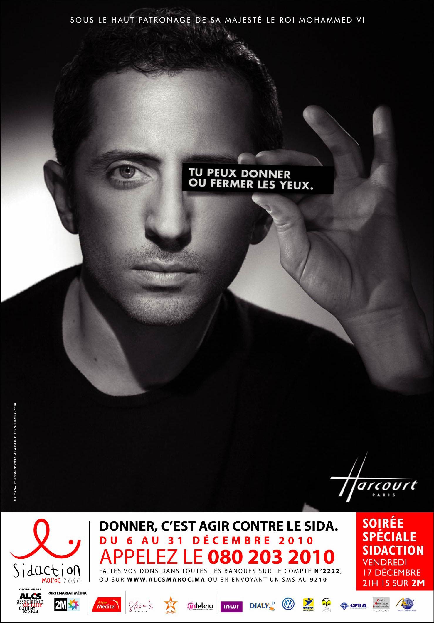 sidaction 2010 donner c 39 est agir contre le sida au maroc. Black Bedroom Furniture Sets. Home Design Ideas