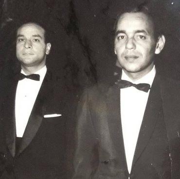 Abdelhak Benabdeljalil en compagnie de feu le roi Hassan II. / Ph. DR
