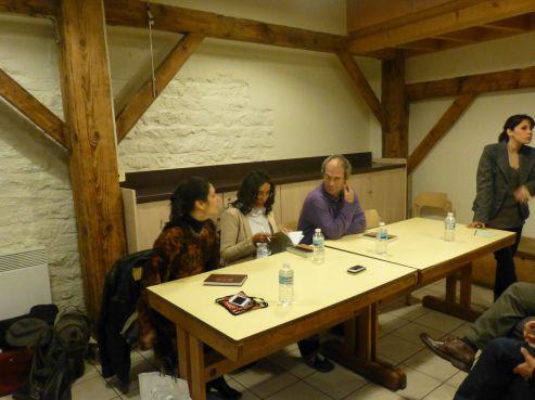 Kenza Sefrioui, Fadma Aït Mouss et Driss Ksikes, Centre International des Cultures populaires à Paris, lundi 24 mars 214 / DR
