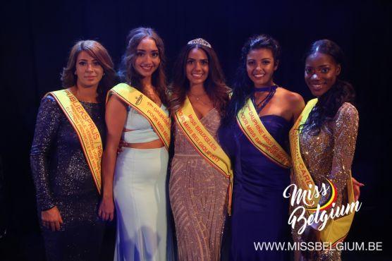 Myriam Sahili (centre), élue Miss Bruxelles 2017 en septembre dernier. /MissBelgium