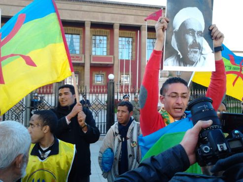 Héros national marocain, Abdelkrim El Khattabi était Amazigh rappellent les manifestants. /DR Omar Louzi.