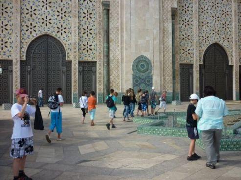Visite de la mosquée Hassan II à Casablanca / Photo collègiens de Betz