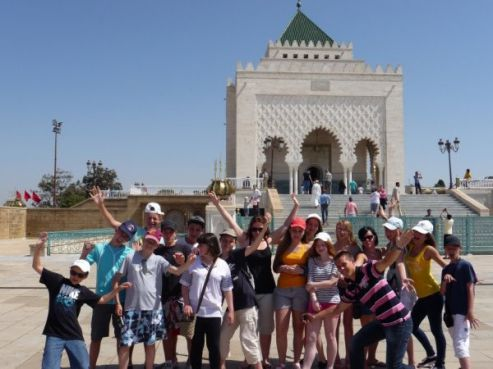 Visite du Mausolée Mohammed V / Photo collègiens de Betz