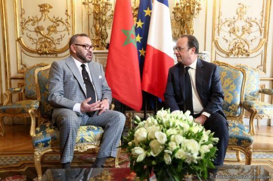 Le roi Mohammed VI rencontre ce mardi François Hollande à Paris