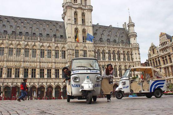 Le départ de la Grande-Place à Bruxelles. /Anass Yakine