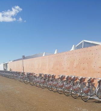 Marrakech a ses vélos en libre-service depuis lundi. /Y. B. (Yabiladi)