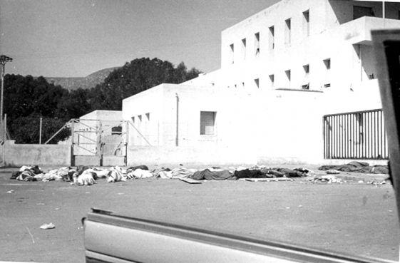 Devant l'hôpital de la ville / Crédit Photo: michelterrieragadir.wordpress.com