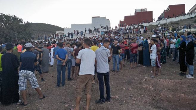Funérailles d'Imad El Attabi, mercredi 9 août à Al Hoceima. / Ph. Facebook