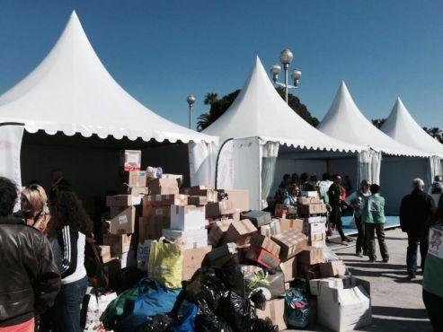 Dons qui seront distribués dans les villages au Maroc / Photo Wafa - Yabiladi