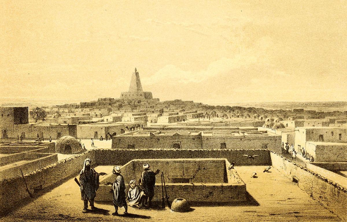Des marchands musulmans à Tombouctou. / Illustration