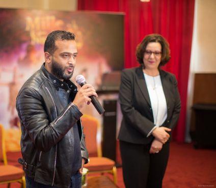 Le Belgo-marocain Anouar Mouatassim lors du lancement officiel de la web-série. / DR