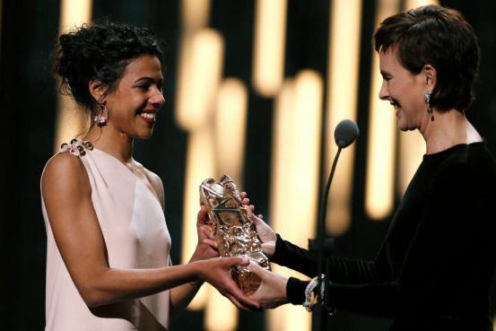 L'actrice Zita Hanrot recevant son César