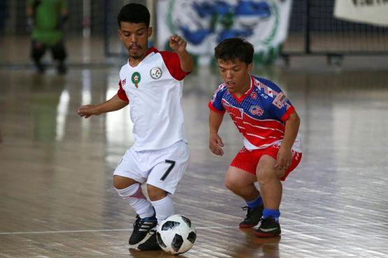 Un joueur de l'équipe marocaine des personnes de petite taille lors de la «Copa America Baja Talla». / Ph. DR
