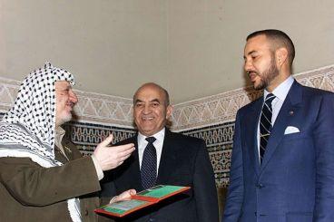Le président palestinien présente ses condoléances au roi après la mort de Youssoufi