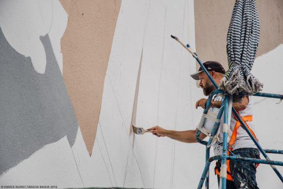 L'artiste italien Millo. / Ph. Hamza Nuino – Sbagha Bagha 2019