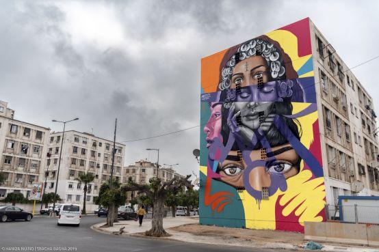 L'artiste marocain Majid El Bahar. / Ph. Hamza Nuino – Sbagha Bagha 2019