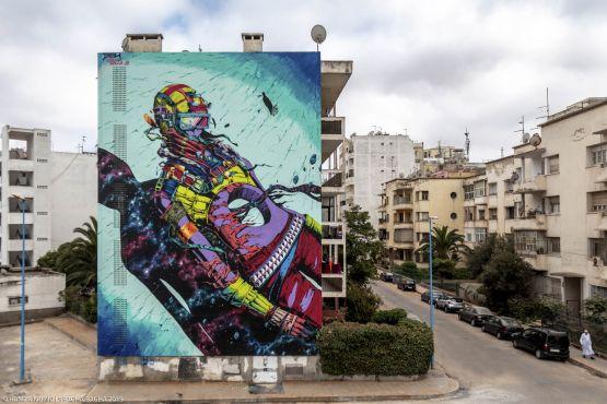 L'artiste espagnol Deih. / Ph. Hamza Nuino – Sbagha Bagha 2019