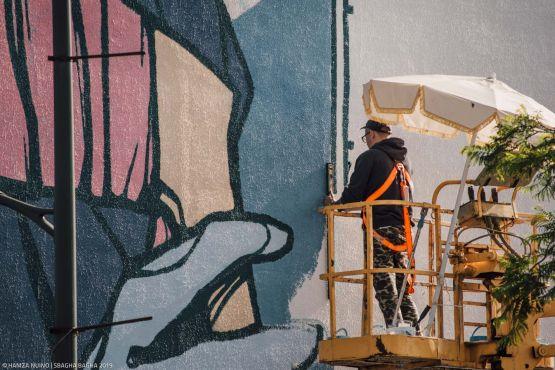 L'artiste polonais Ndwz. / Ph. Hamza Nuino – Sbagha Bagha 2019