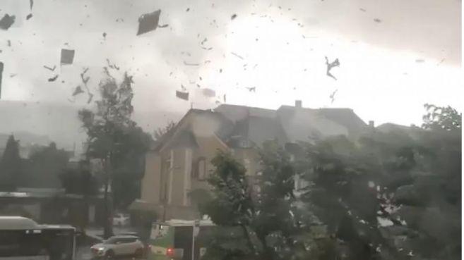 Images de la tornade ayant frappé des zones frontalières entre le Luxembourg, la Belgique et la France, vendredi 9 août 2019 / Ph. DR.