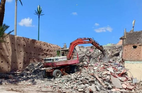 Les autorités locales de Marrakech ont procédé vendredi à la démolition de la maison. / Ph. Amal Mellakh