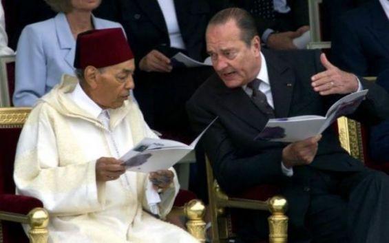 Jacques Chirac en compagnie de Hassan II  Ph. DR