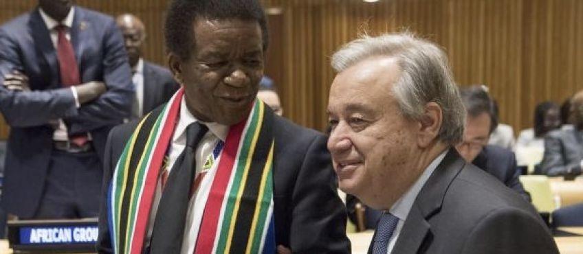 Jerry Matjila avec Antonio Guterres / UN