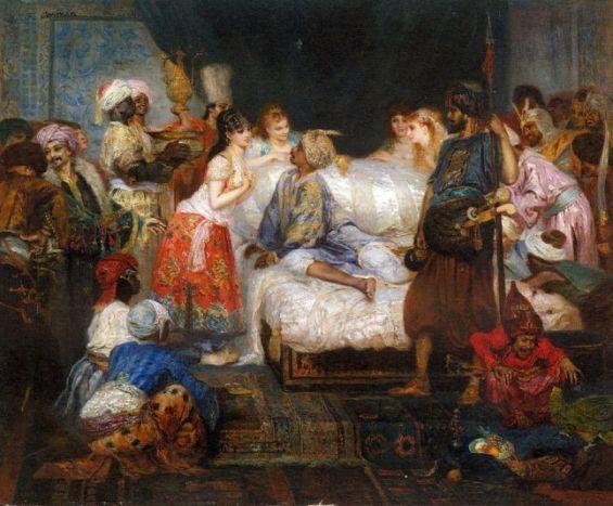 «Le Harem, scène des Mille et une Nuits», de Fernand Cormon. / DR
