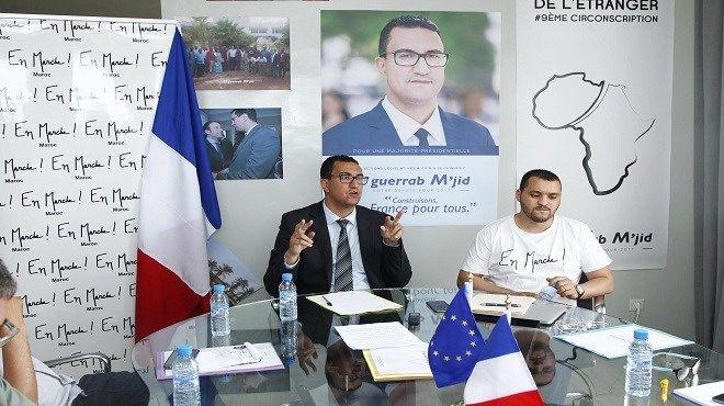 M'Jid El Guerrab lors de la conférence de presse d'En Marche ! Casablanca organisée cette semaine. / Ph. Le Reporter
