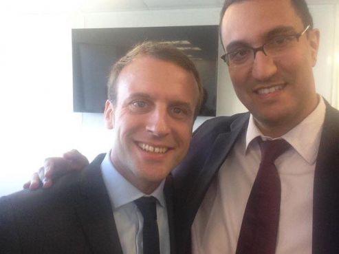 M'jid El Guerrab en compagnie du président français Emmanuel Macron. / Ph. Facebook LREM Casablanca