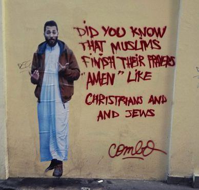 street art un artiste se fait agresser pour ses affiches. Black Bedroom Furniture Sets. Home Design Ideas