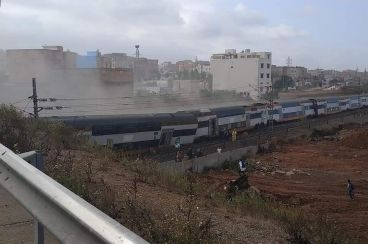 An ONCF train runs off its rails between Rabat and Kenitra, killing at least 7 people