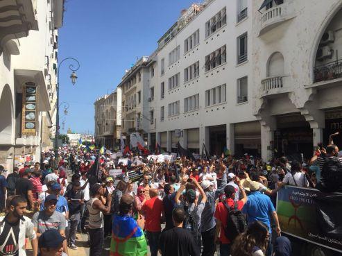 Marche de soutien au Hirak, tenue à Rabat le 15 juillet 2018 / Ph. Youssef Dahmani - Yabiladi