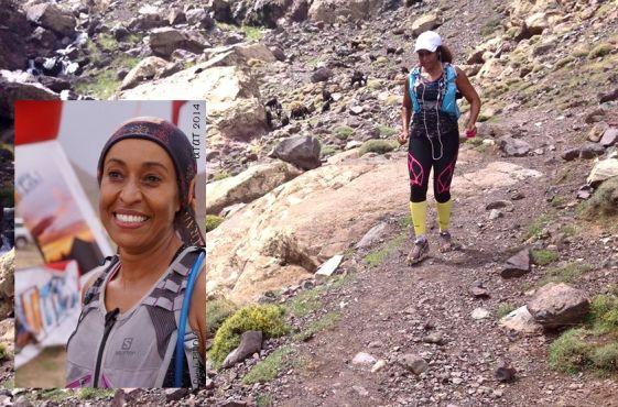Houda Mabileau a été la seule Marocaine à finir le 105km de l'Utat en 2014. (c)Mabileau