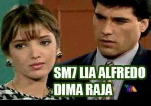 «Désolé Alfredo, Dima Raja », confie l'héroïne de la telenovela mexicaine Guadalupe à son compagnon Alfredo