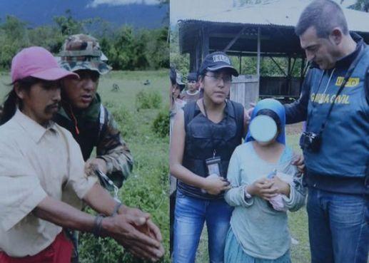 Images de l'arrestation du kidnappeur présumé et de la libération de la jeune fille (DR)