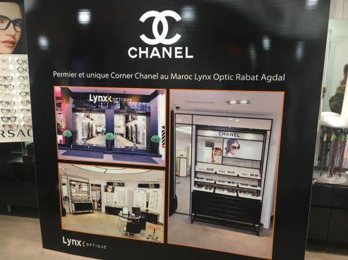 Il a fallu 2 ans de négociations pour ouvrir un présentoir dédié à Chanel dans une des boutique Lynx Optique  à Rabat Agdal / Ph. Mohamed Ezzouak