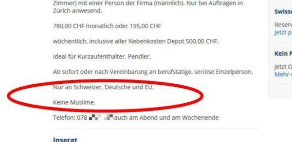 Suisse une bailleur refuse de louer son logement aux musulmans - Refus location appartement ...
