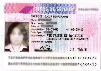 carte de séjour temporaire vie privée et familiale France : Inflation importante des taxes sur les titres de séjour